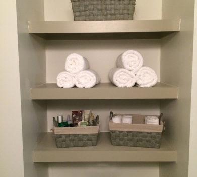 Bathroom Shelves After
