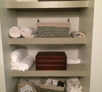 Bathroom Shelves Before